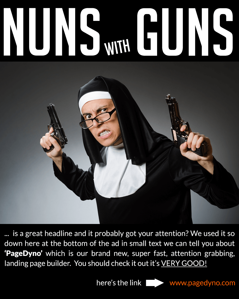 PageDyno Nuns with Guns